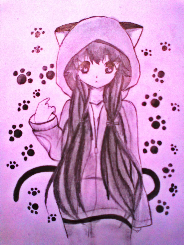cute anime cat girl by xinje on DeviantArt
