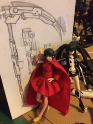 Rwby Ruby Rose figure WIP-02 by Razenix-Angel