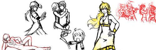 Rwby random doodles by Razenix-Angel