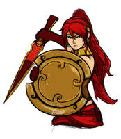 Pyrrha Redraw Doodle Colored by Razenix-Angel