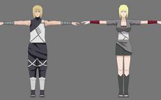 3D Naruto Kumogakure Atsui and Samui by neilcatorce