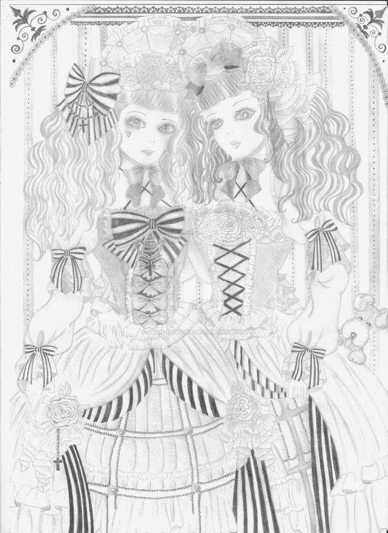 Lolita Pencil Drawing by Swan-Odyssey