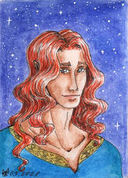 Maedhros under night sky