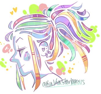 Ponytail doodle awljdkw by Akukasterberous