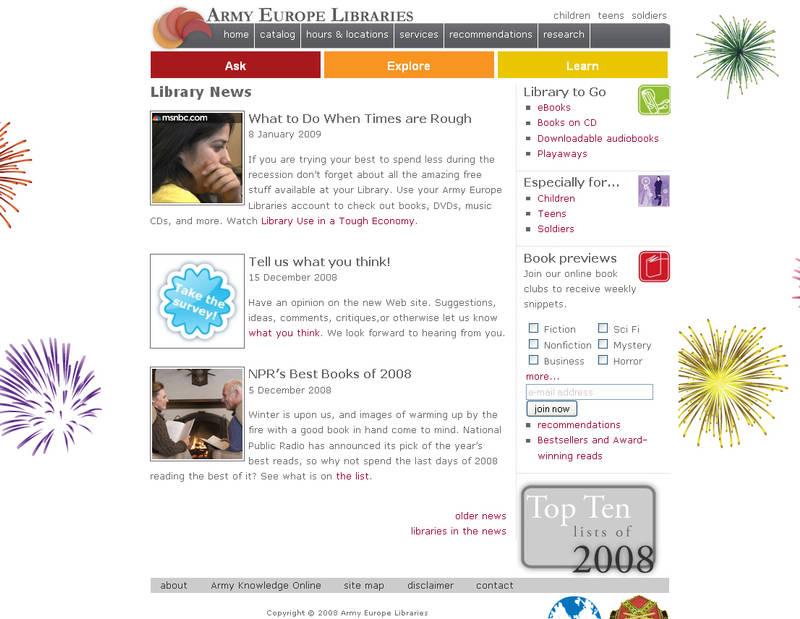 Library Web site by kamuidestiny