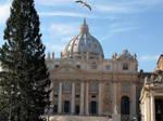 Bird over Pope's church