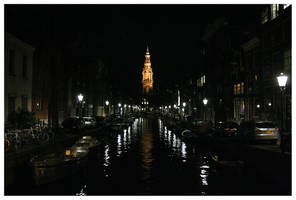 AmsterCanal at Night by kamuidestiny