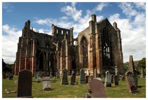 Melrose Abbey by kamuidestiny