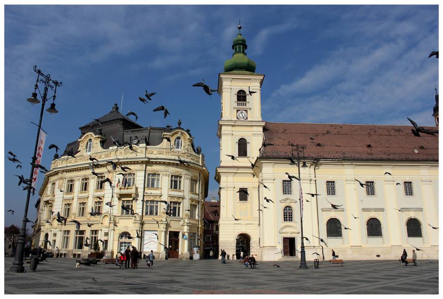 Sibiu Piata Mare by kamuidestiny