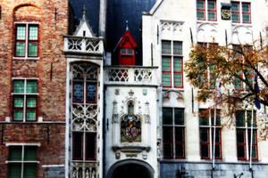Brugge Buildings by kamuidestiny