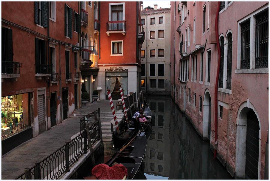 Gondolas.