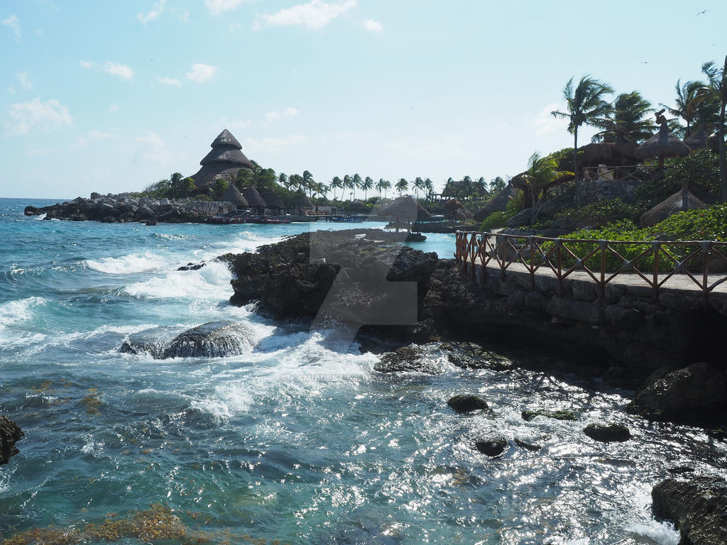 Xcaret Shore by kamuidestiny