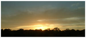 Silhouette Sunset by kamuidestiny