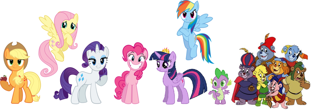 The Mane 6 Spike And The Gummi Bears By Iamnater1225 On DeviantArt