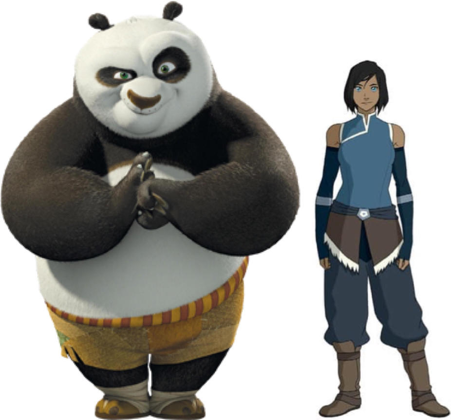 Po and Korra by iamnater1225