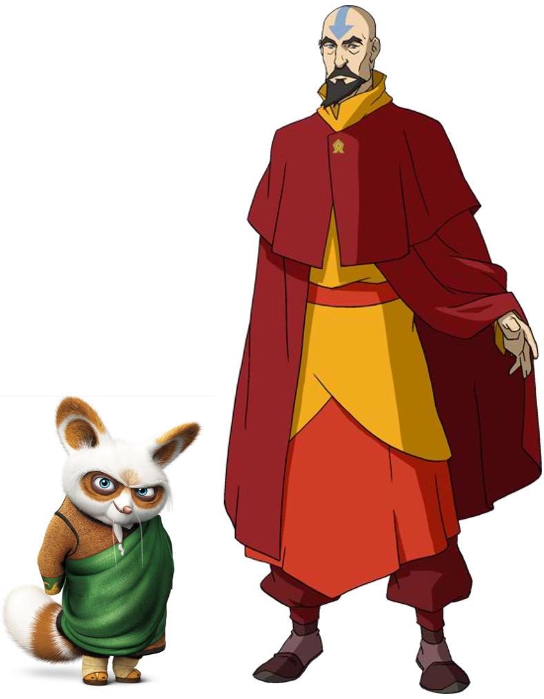 Shifu and Tenzin by iamnater1225