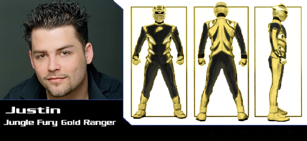 Justin as the Jungle Fury Gold Ranger by iamnater1225