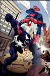 Spider-Man and Venom.