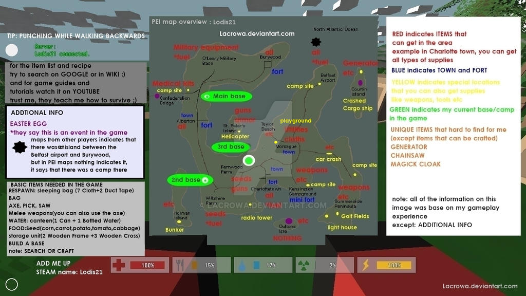 Steam Unturned Map With Details By Lacrowa On Deviantart