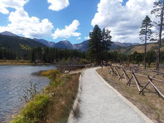 Lake Side Trail by dragongillian
