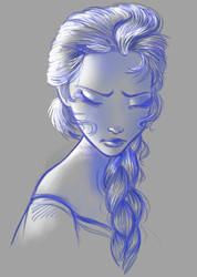 Elsa from frozen by SerenaAmabile
