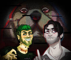 Darkiplier vs Antisepticeye by ruebharb