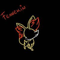 Fennekin bl by MusicFireWind