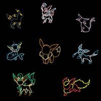 Eevee's evolutions bl by MusicFireWind
