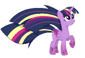 Twilight Rainbow powers pixel icon by MusicFireWind