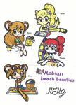 Mobian beach girls (Sonic ocs)