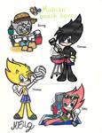 Mobian beach boys (Sonic ocs)