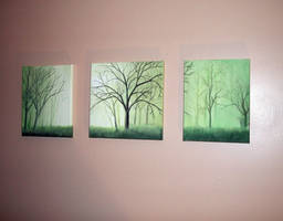 Green trees abstract by dana2010