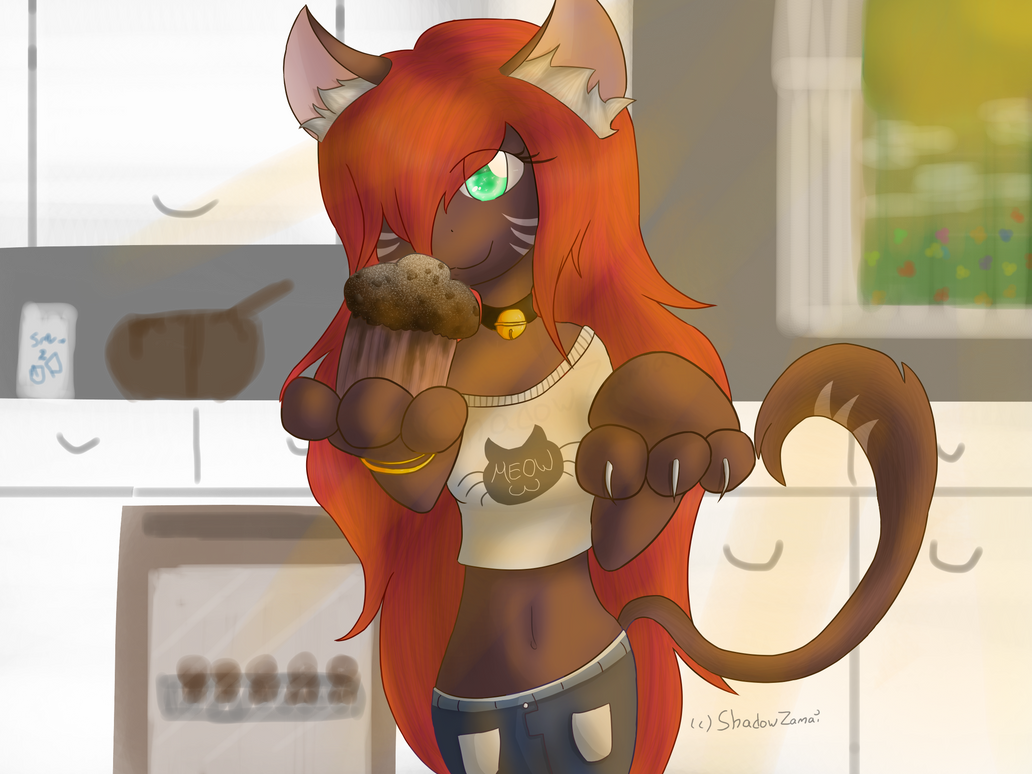 [Art Trade] Her love for muffins by ShadowZamai