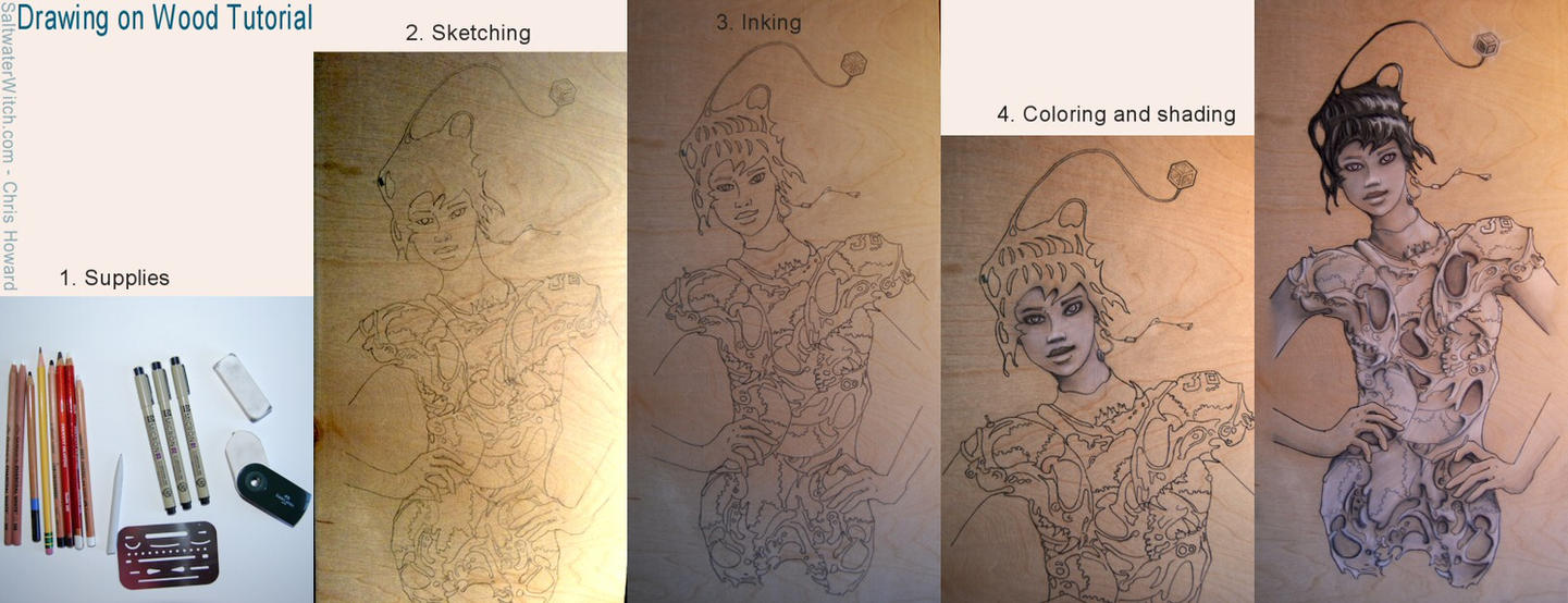 Drawing on Wood Tutorial by the0phrastus