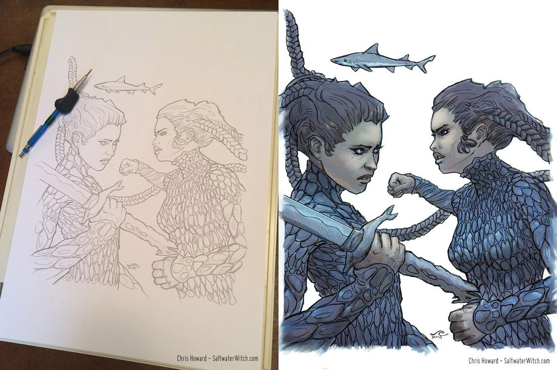 Saltwater Witch: Kassandra and Phaidra by the0phrastus