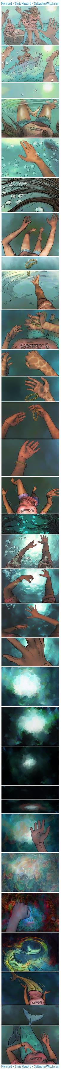 Mermaid Comic - Chris Howard by the0phrastus