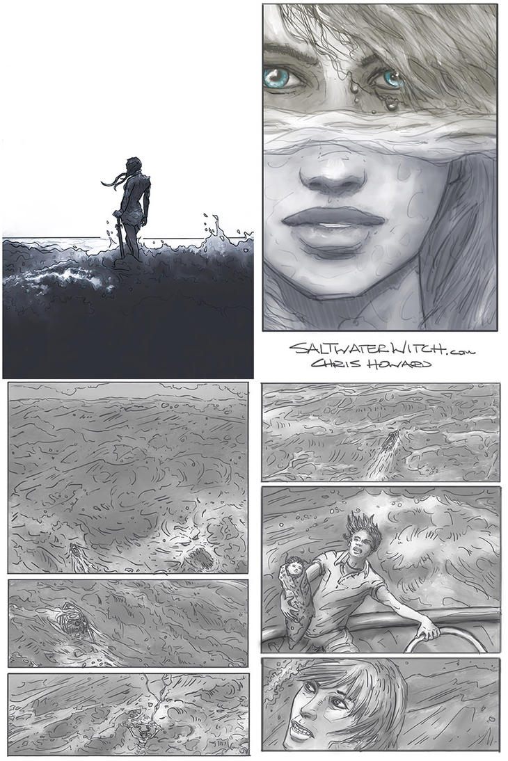 Saltwater Witch Comic Pages cover-intro by the0phrastus