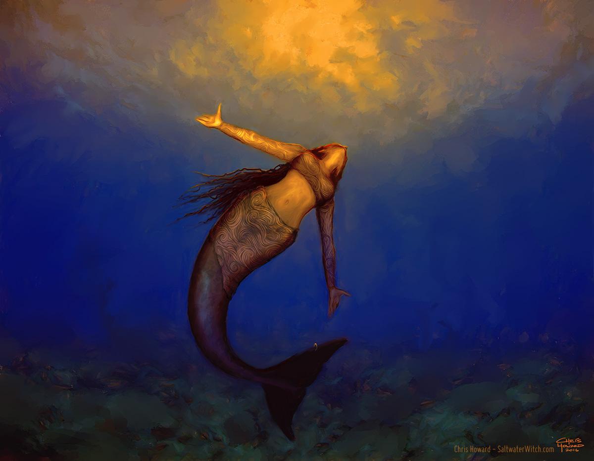 Mermaid at Dusk by the0phrastus