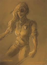 Sergeant Angua of the Ankh-Morpork City Watch by the0phrastus