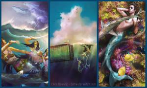 Mermaid Triptych - Chris Howard
