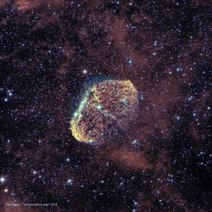 Crescent Nebula NGC6888  Ha-OIII by the0phrastus