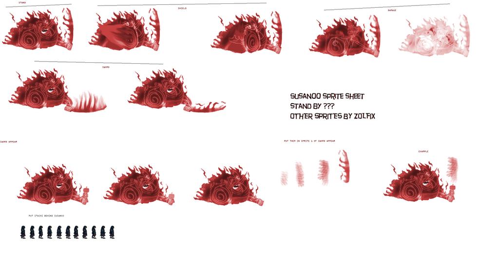 Susanoo Sprite: Itachi Uchiha's Susano Short Sprite Sheet By DanteWreckmen