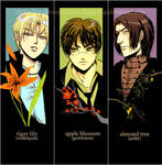 hp- deathly hallows bookmarks