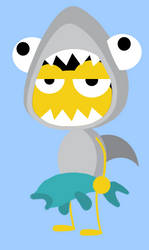 Minimal Shark Boy by TheKeystone