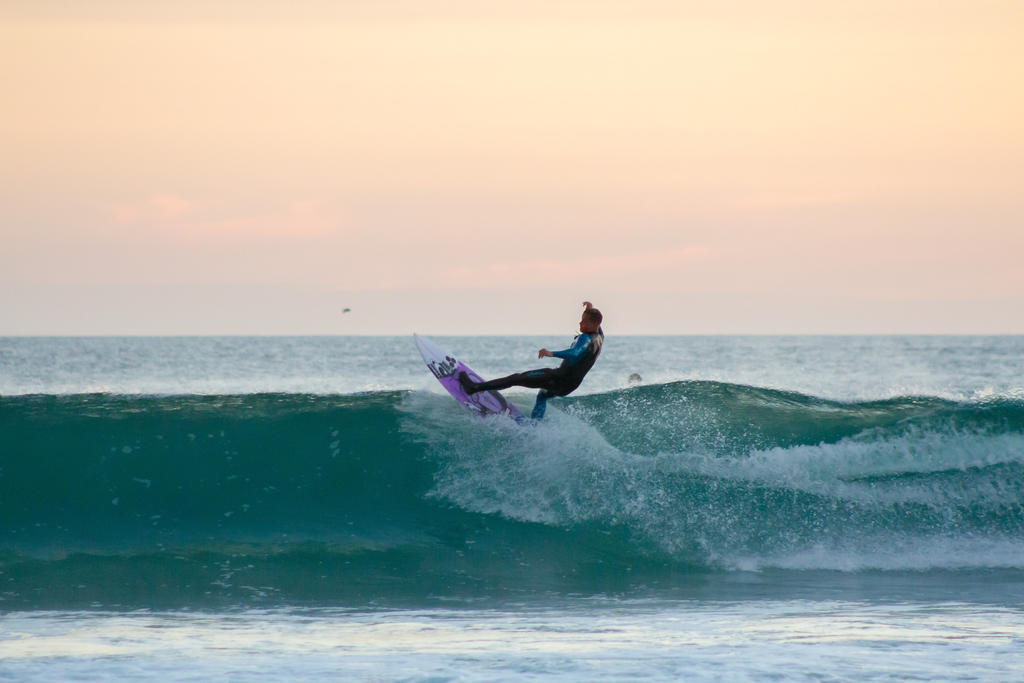 Surfer at Blackhead by ARC-Photographic