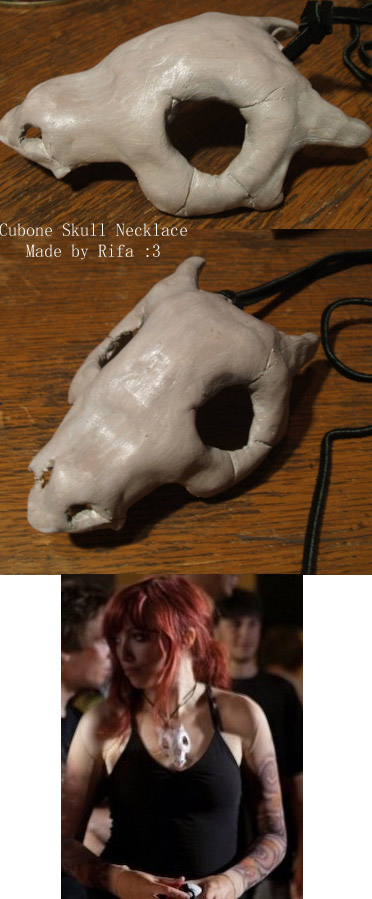 Cubone Skull Necklace by rifa