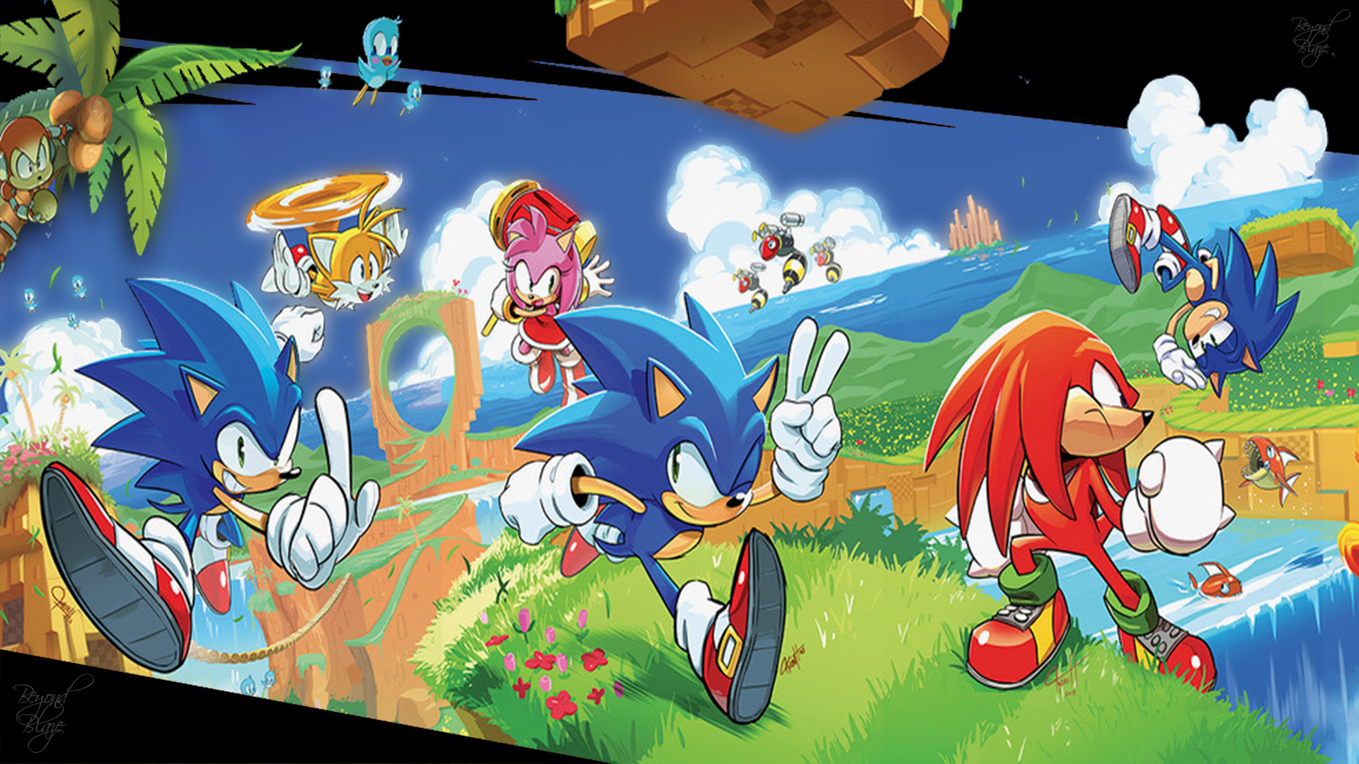 Sonic The Hedgehog Idw Wallpaper Cover By Blaze735 On Deviantart
