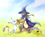 Wizardmon and Tailmon