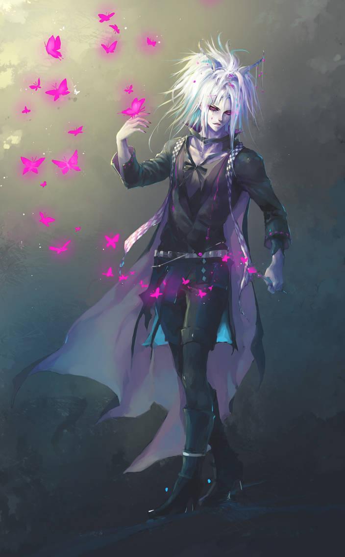 Magenta magic butterflies by Aikorn