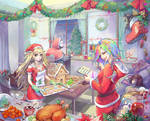 Commission: Merry Christmas from Miy, Maiy and Aiy by Aikorn